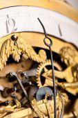 Detail Of Gold Historic Clock, Clockwork poster
