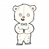cartoon teddy polar bear