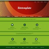 Website Template with Abstract Header Design - Colorful Grunge Pattern