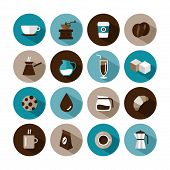 pic of sugar cube  - set of vector coffee icons for various uses - JPG