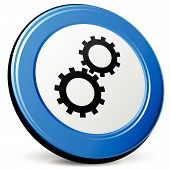 Vector 3D Gears Icon