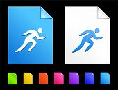 Sprint Icons on Colorful Paper Document Collection