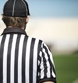 image of referee  - back of a football referee - JPG