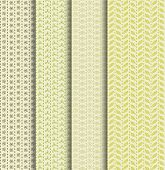 Set of four fancy seamless patterns