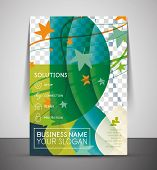 Nature professional corporate flyer print template with place for your photo