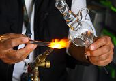 foto of blow torch  - Glass Blowing - JPG