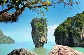 stock photo of james bond island  - Phang Nga Bay James Bond Island Thailand - JPG