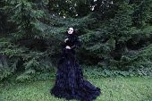 image of evil queen  - Dark Queen in park - JPG