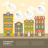 Real Estate House Infographics Design