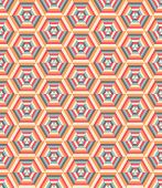 Retro geometric hexagon pattern