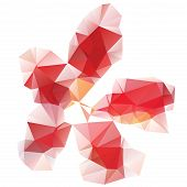 Red Polygonal Flower