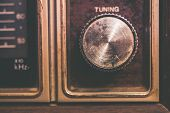 Vintage Tuning Dial In Radio