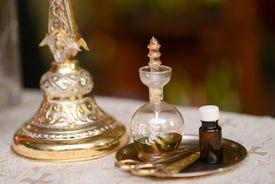 image of baptism  - Oil prepared for baptism baby holy Christian Church - JPG