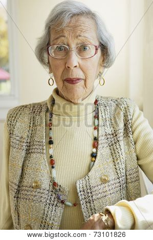 Elderly woman smiling for the camera