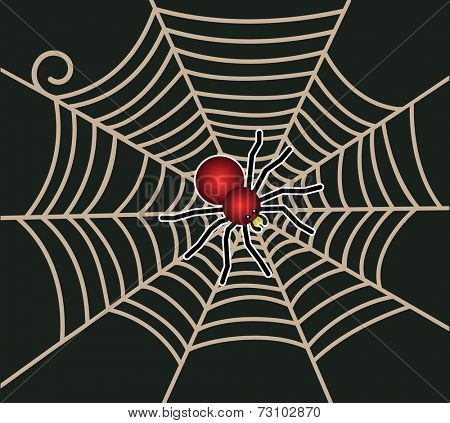 Red spider with web