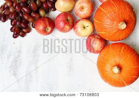 Autumn Fruit In The Garden