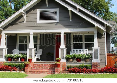 Nice one-family house with a porch