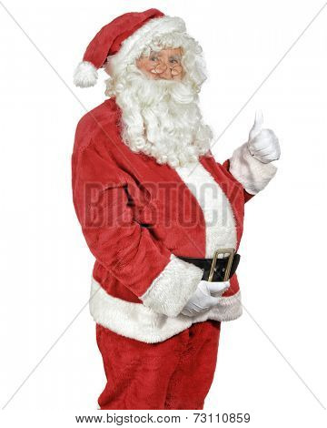 Santa Claus giving the thumbs up sign