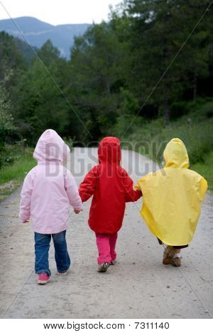 Children Going For A Walk