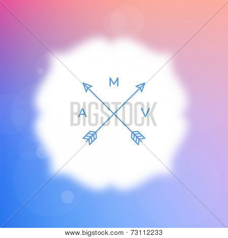 Vector Blurred Background with Blurred Bokeh Frame.