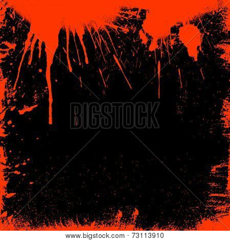 Grunge style bloody border - ideal for Halloween