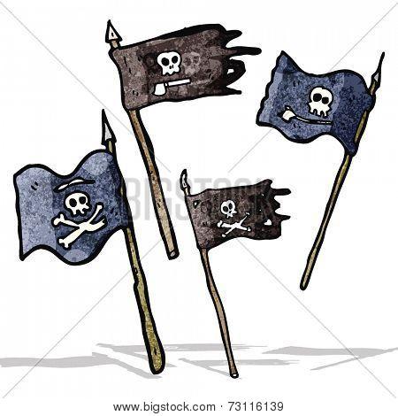 cartoon pirate flags