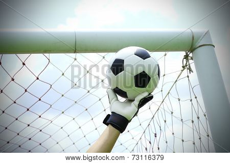 Soccer Goalkeeper Hands Save