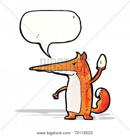 sneaky fox cartoon