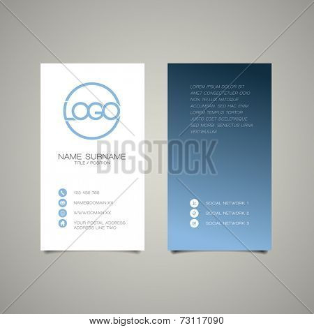 Modern simple vertical business card template with place for your company name
