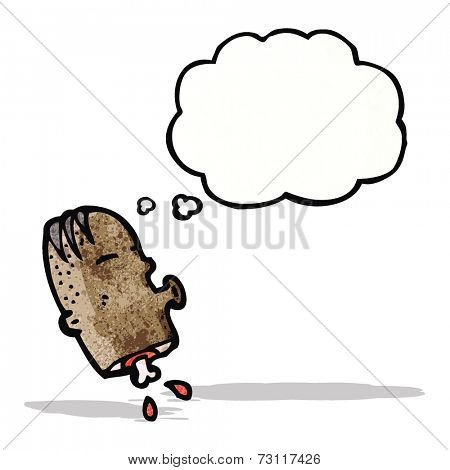 cartoon chopped head