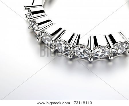 Ring with Diamond or moissanite. Jewelry background