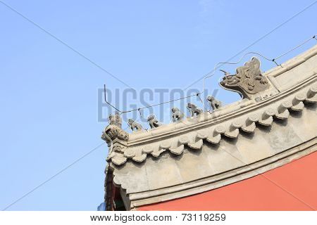 Chinese temples eaves