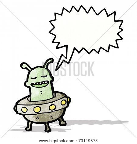 cartoon alien invader