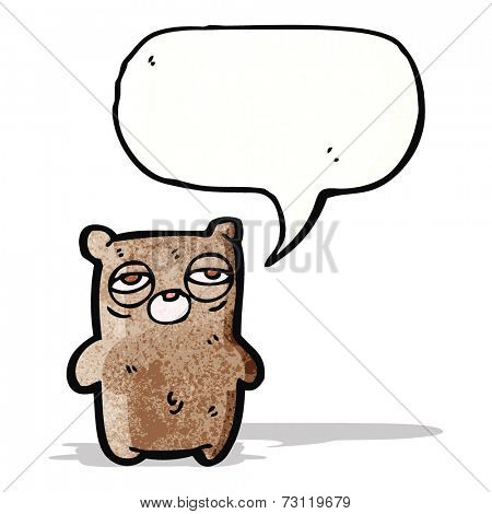 tired bear cartoon