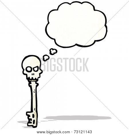 spooky skeleton key cartoon