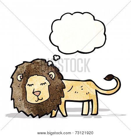 skinny lion cartoon