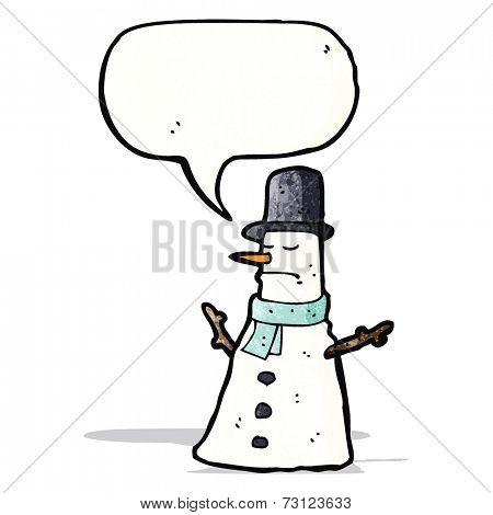 grumpy snowman cartoon