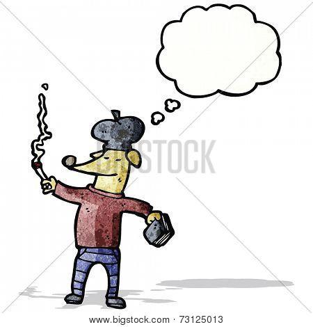 cartoon smoking dog