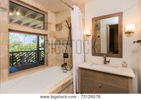 Bathroom in Contemporary Home, Interior Design