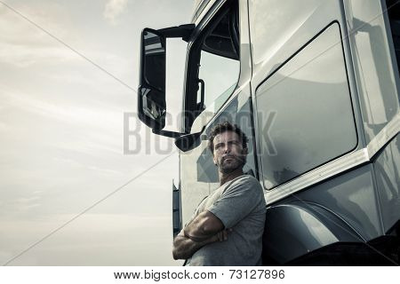 Portrait of a truck driver