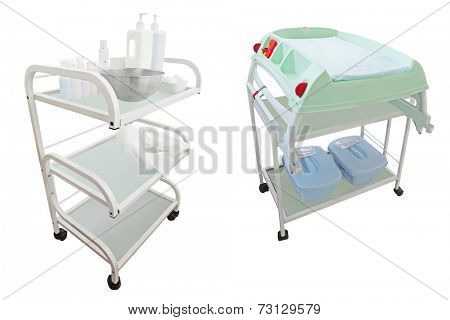 Medical trolley with different medicines