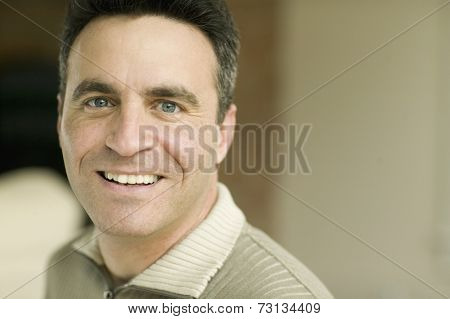 Close up of man smiling