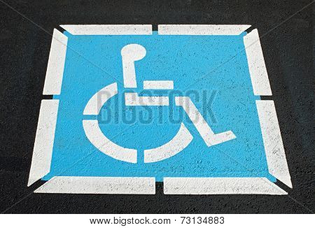 Pavement Handicap Symbol