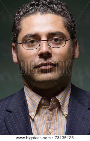 Close up of Hispanic businessman