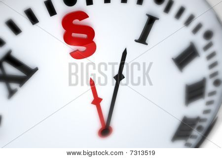 Clock With Paragraph Symbol