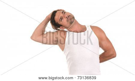 Very Nice Image od a Handsome man stretching