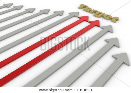 Different Color Arrows
