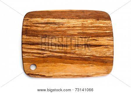 Cutting board studio isolated on white background