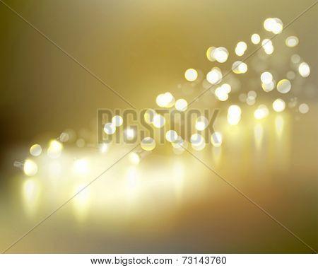 Golden lights. Vector illustration.