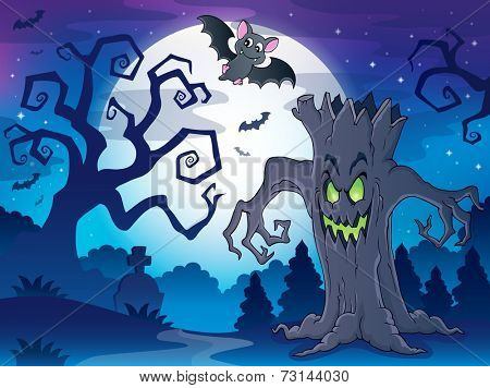 Scenery with Halloween thematics 1 - eps10 vector illustration.